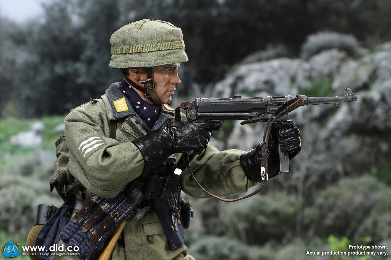 DID 80146 1//6th German Army Paratrooper Green Devil Schmelin Knee Pads Model